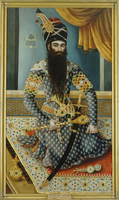 صورة للشاه الفارسي، فتح علي شاه قاجار، ١٧٩٨-١٧٩٩