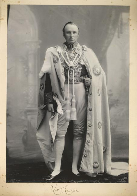 Portrait of Lord Curzon. From the Curzon Collection: 'Viceroy's Camp, Delhi, 1903'