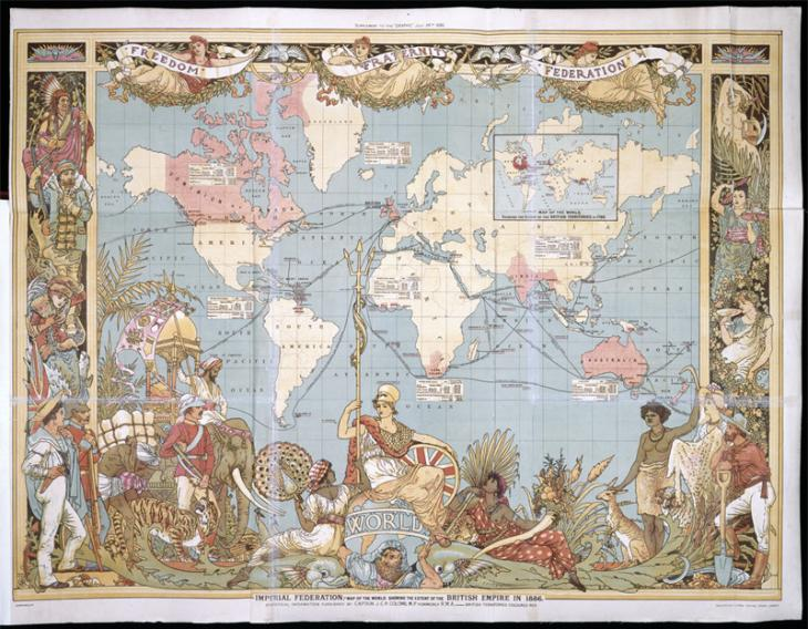 BL image 079201, Map of the British Empire. From: The Graphic, supplement, 24 July 1886