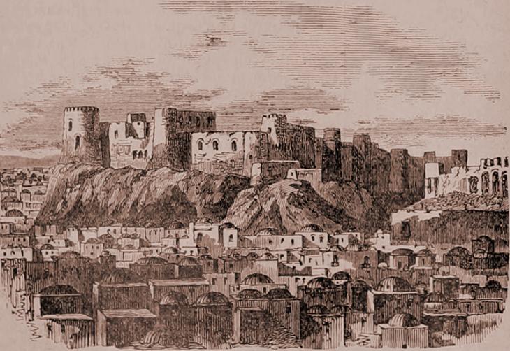 """Citadel of Herat, 1885. From: Image from page 269 of """"Nouveau dictionnaire encyclopédique universal illustré : répertoire des connaissances humaines"""" (1885) - PD"""