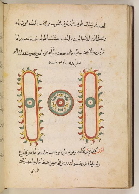 رسم بياني لجهاز ميكانيكي من باب الدواليب، Add. MS 14055، ص. ١٦٢ظ