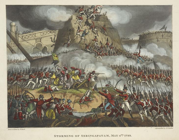 'The Storming of Seringapatam, May 4th 1799'. F60148-62 © The British Library Board