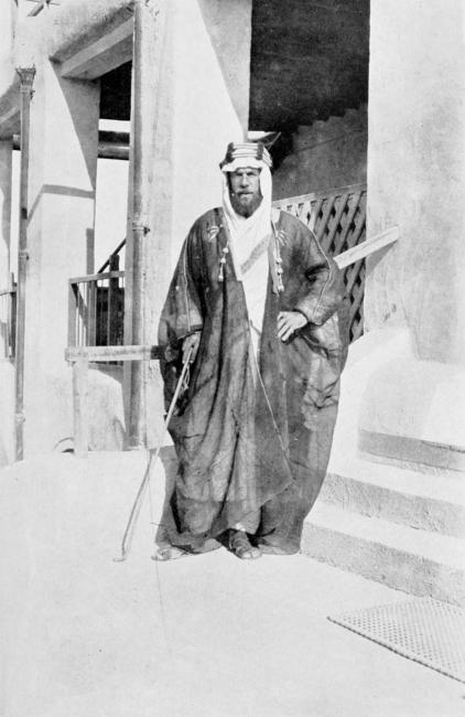 Photograph of Philby used in his book The Heart of Arabia (London: Constable and Company Ltd, 1922). Public Domain