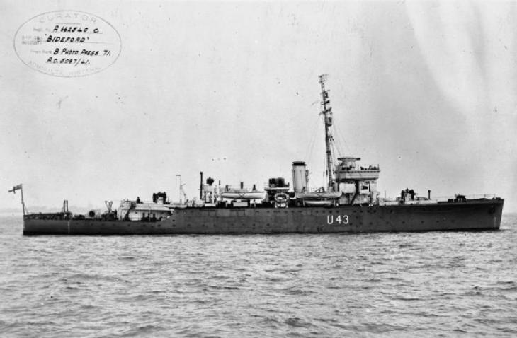 HMS Bideford. © Imperial War Museum (FL 2040)