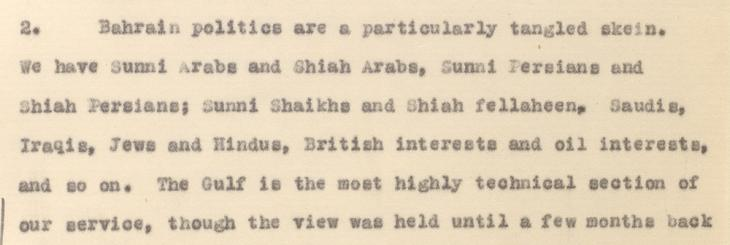 Extract of a letter from the Political Resident in the Persian Gulf, Charles Geoffrey Prior, to the Secretary to the Government of India, dated 30 July 1940. IOR/L/PS/12/3813, f. 7