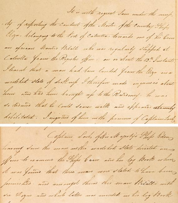 Extracts of letter from William Bruce, Resident, Bushire, to the Honourable Mountstuart Elphinstone, President and Governor in Council, Bombay, 22 April 1820. IOR/R/15/1/22, ff. 42v–44