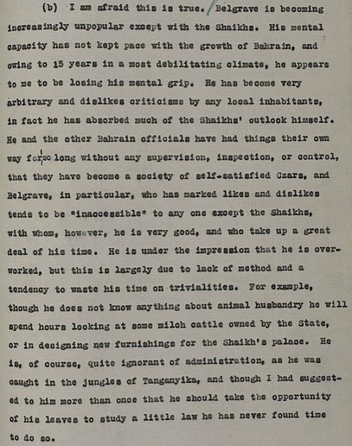 مقتبس من خطاب مُرسِل من تشارلز جيوفري برايور إلى و. ك. كارو في مكتب الهند بلندن، ٢٥ مايو ١٩٤١. IOR/R/15/1/344، ص. ١٢٨
