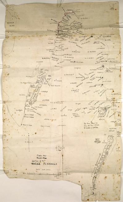 Sketch map of Qatar. IOR/R/15/1/370, f.164