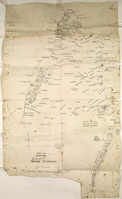 Sketch map of Qatar. IOR/R/15/1/370, f.164