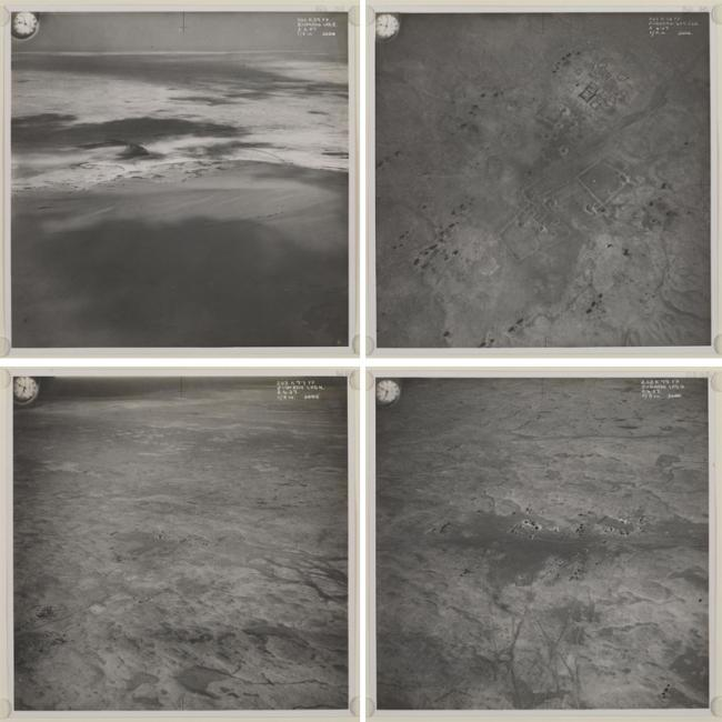 Four RAF aerial photos of Zubarah on the Qatari peninsula. IOR/R/15/1/370, p.160r-163v