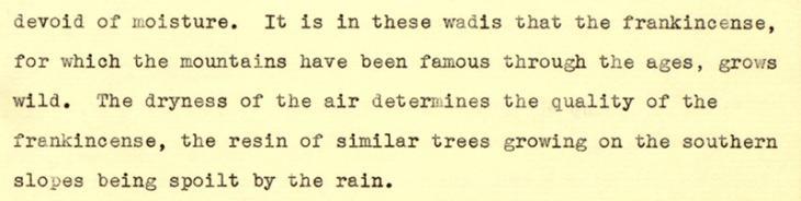 مذكرة بشأن مقاطعة ظفار ووضعها وكذلك أنماط هطول الأمطار فيها كتبها ج.ن. جاكسون في ٢٣ يونيو ١٩٤٣. IOR/R/15/1/398، ص. ٢