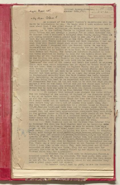 McCallum discusses Shaikh Ahmad's activities during his final week in London. IOR/R/15/1/504, f. 125