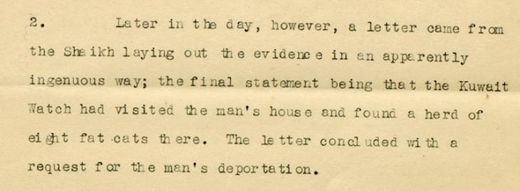 Further extract of a letter from Gerald Simpson DeGaury, Political Agent in Kuwait, to the Political Resident, dated 18 March 1937. IOR/R/15/1/506, ff. 207-211