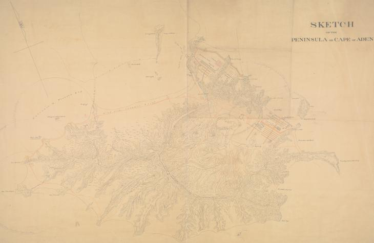 'Sketch of the Peninsula or Cape of Aden', 1846. IOR/X/3251