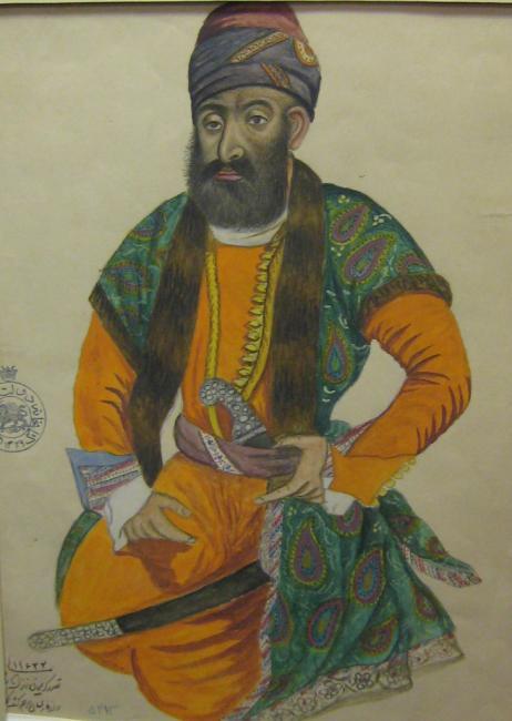 صورة لكريم خان زند من العصر الثامن عشر (متحف إيران الوطني).