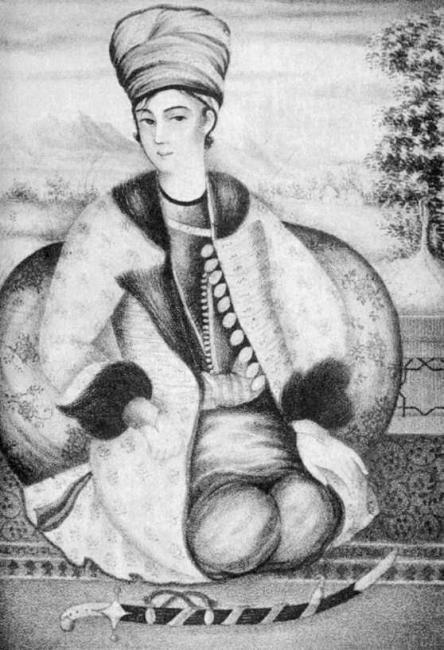 Image of Lotf Ali Khan, the last Zand ruler of Persia (Wikimedia Commons)