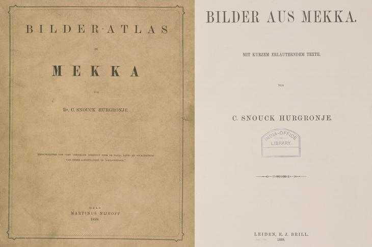 Photographs by 'Abd al-Ghaffār were published in 1888 and 1889 by Christiaan Snouck Hurgronje. L-R: 1781.b.6; X463