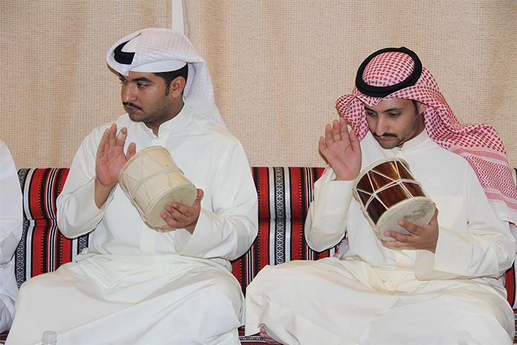 Mirwas players during a performance in Kuwait in May 2014. Image: author's own