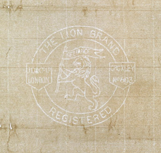 The Lion Brand watermark of John Dickinson & Co Ltd. Mss Eur F111/361, ff 2-5, f. 4r