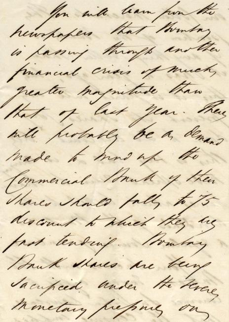 Extract of a letter from Patrick Ryan to Lewis Pelly, 17 May 1866. Mss Eur F126/47, ff 30-33