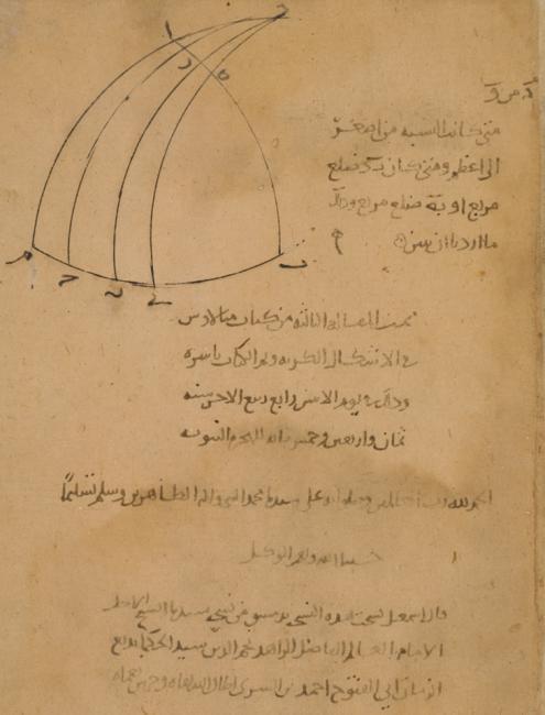 حرد المتن في نهاية المخطوطة التي يذكر فيه إسماعيل ابن الساري بن صلاح. Or 13127، ص. ٥١و