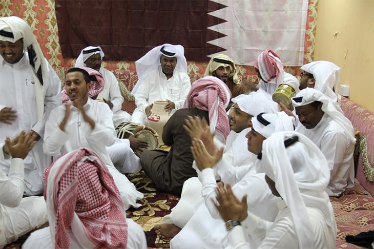 Performance of sea music at Khalid Jorhar's majlis in Doha in December 2013. Image: author's own