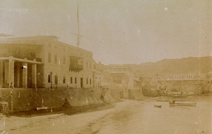 Photograph of the British Consulate in Muscat, taken on 31 October 1900 by Arthur Alexander Crookshank. Photo 430/8/3