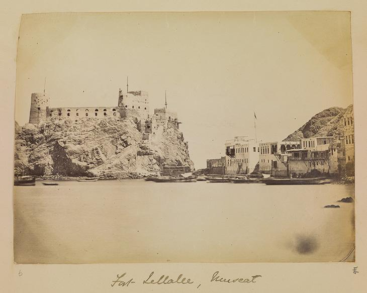Photograph of 'Fort Jellalee, Muscat'. Photo 355/1/46, f. 24r-a