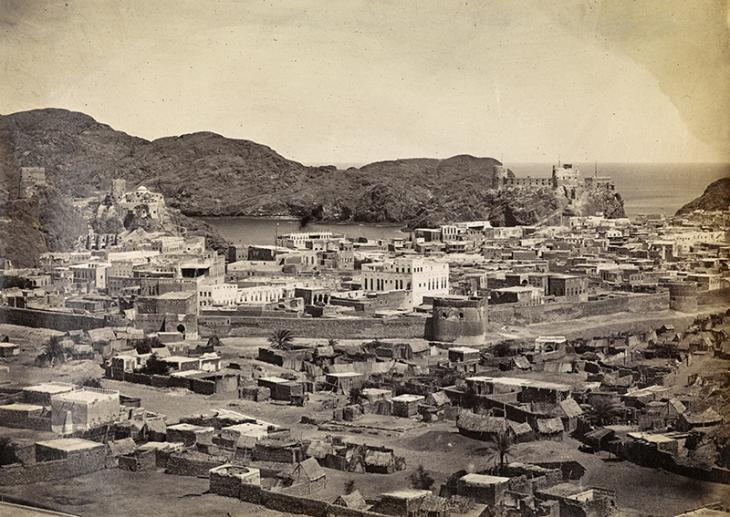 Town of Muscat from inland plain, c.1870. Photo 355/1/44