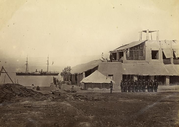 محطة باسيدور، حوالي سنة ١٨٧٠.