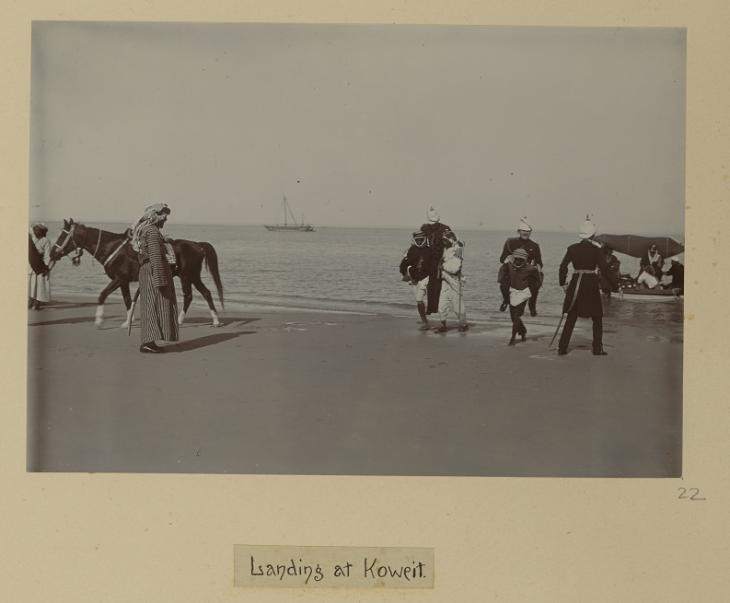 Detail from 'Landing at Koweit'. Photo 49/1/22