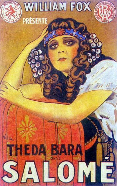 صورة لنجمة السينما الصامتة، ثيدا بارا، في دور سالومي، ١٩١٨.