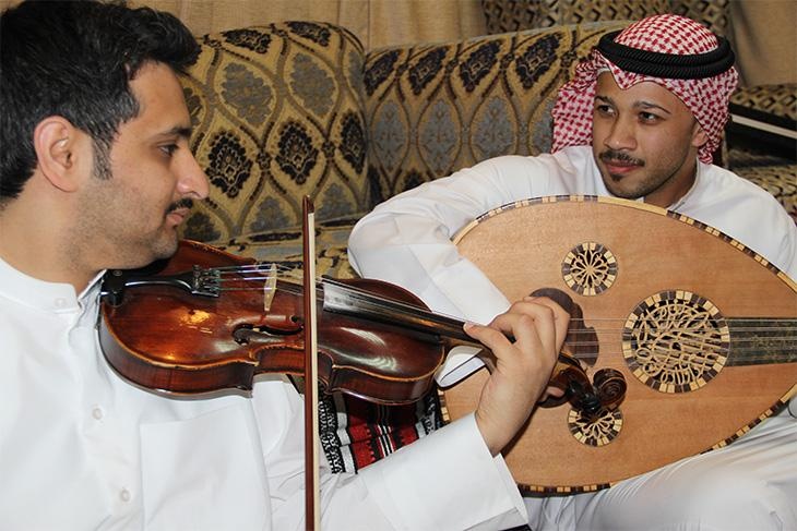 Ṣawt musicians during a performance in Kuwait in May 2014. Image: author's own