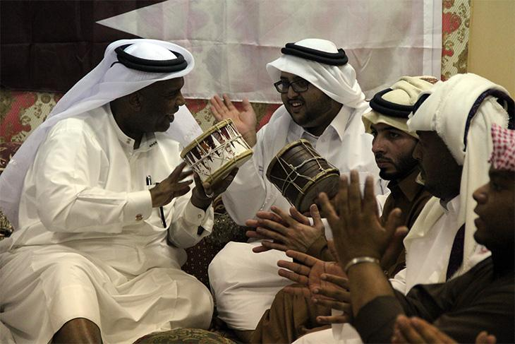 Ṣawt musicians performing in Qatar, December 2013. Image: author's own