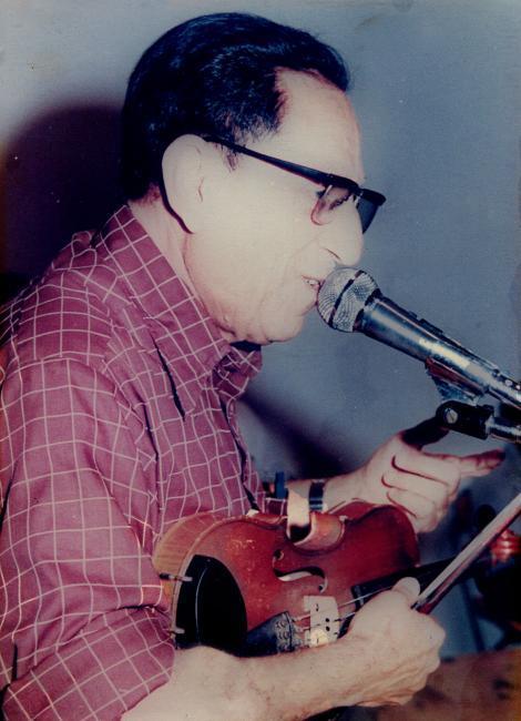 The composer and violin player Salih al-Kuweiti - courtesy Shlomo Elkivity
