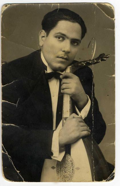 The young oud player Dawud al-Kuweiti - courtesy Shlomo Elkivity