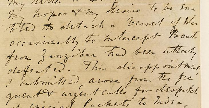 Extract of a letter sent by Captain Felix Jones, Resident in the Persian Gulf, 25 April 1857. IOR/R/15/1/168, f. 34
