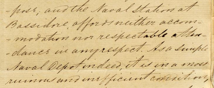 Extract of a letter sent by Captain Felix Jones, Resident in the Persian Gulf, to H. L. Anderson, Secretary to the Government in Bombay, 18 November 1857. IOR/R/15/1/171, ff. 196–99
