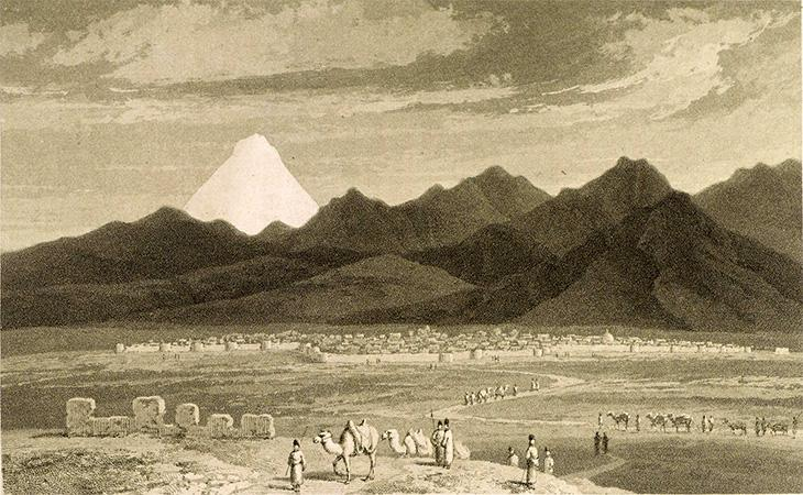 View of Tehran, c.1808. Source: Sir Harford Jones, A Journey though Persia, Armenia, and Asia Minor … (1812), p.185