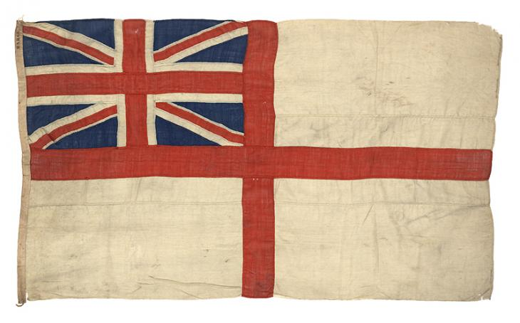 White Ensign. Courtesy of: National Maritime Museum, Greenwich, London (available under CC BY-NC-SA licence).