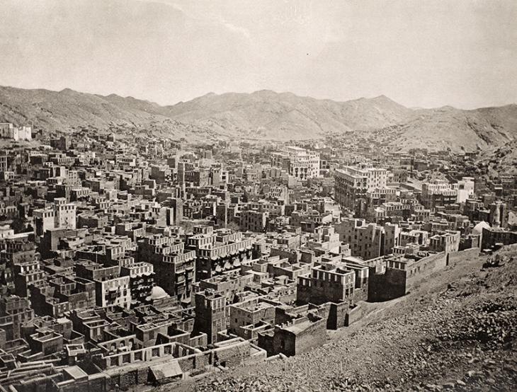 'Vierte Ansicht der Stadt Mekka' [Fourth view of the city of Mecca]. Photographer: al-Sayyid ʻAbd al-Ghaffār, 1886-89. X463/5