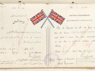Manumission, Not Abolition: British Mediations over Slavery in the Gulf
