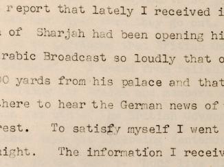 البروباجندا النازية في الشارقة خلال الحرب العالمية الثانية